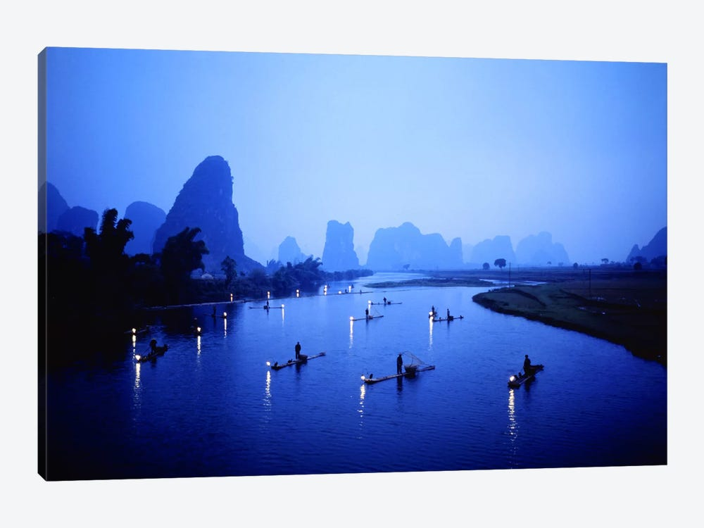 Night Fishing Guilin China by Panoramic Images 1-piece Canvas Art Print