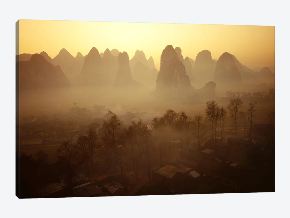 Sunrise in Mountains Guilin China by Panoramic Images 1-piece Canvas Artwork