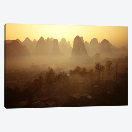 Sunrise in Mountains Guilin China Canvas Print #PIM2409} by Panoramic Images Canvas Art Print