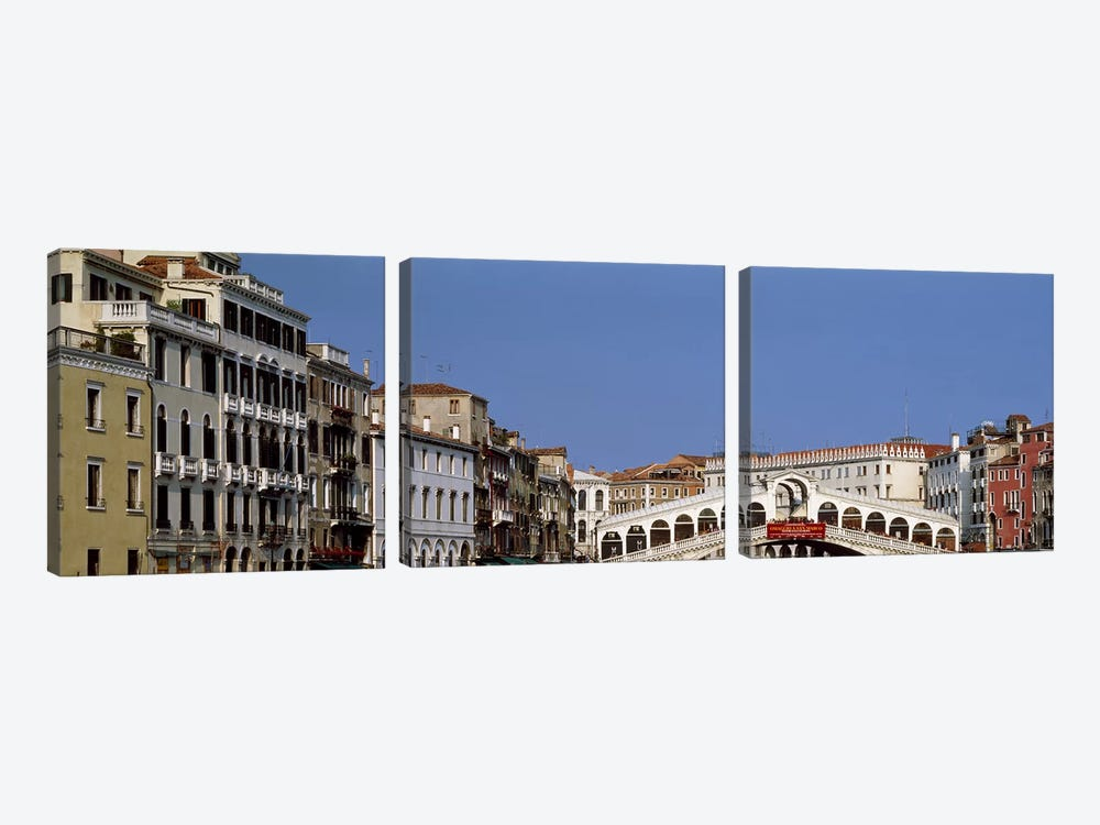 Ponte di Rialto (Rialto Bridge) & Surrounding Architecture, Venice, Veneto, Italy by Panoramic Images 3-piece Canvas Art Print