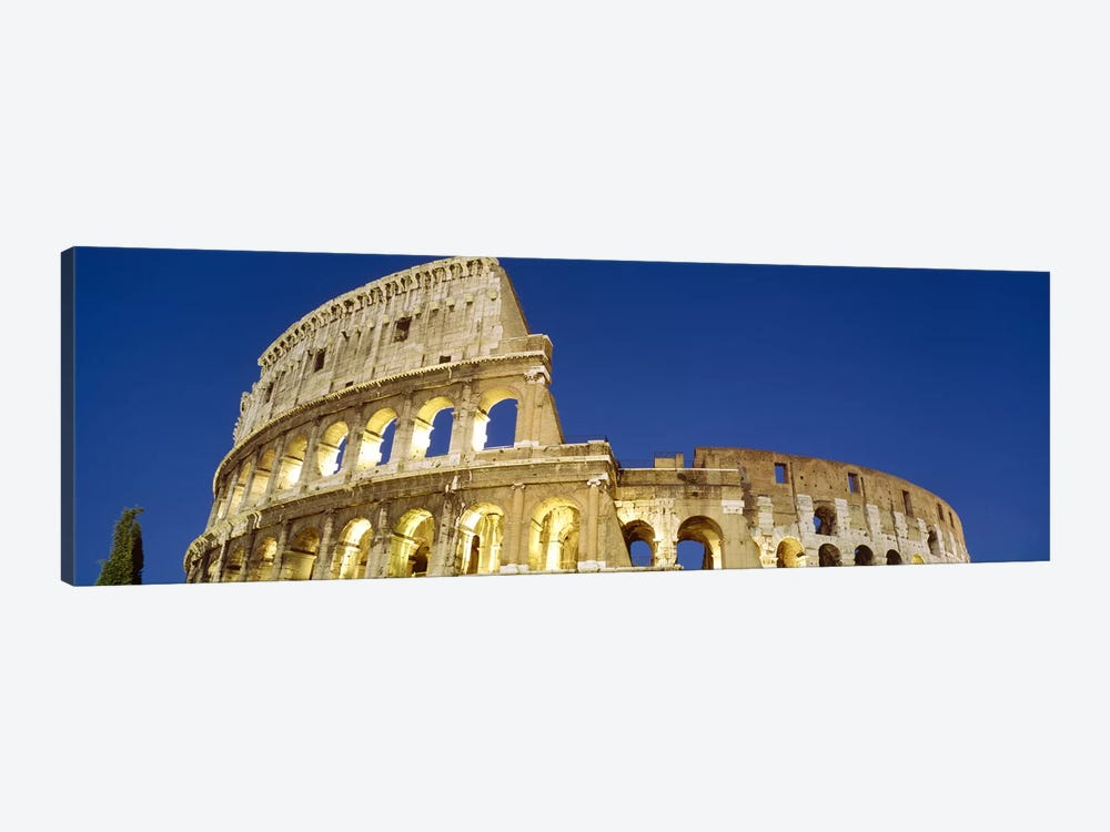 Low angle view of ruins of an amphitheaterColiseum, Rome, Lazio, Italy by Panoramic Images 1-piece Canvas Art Print