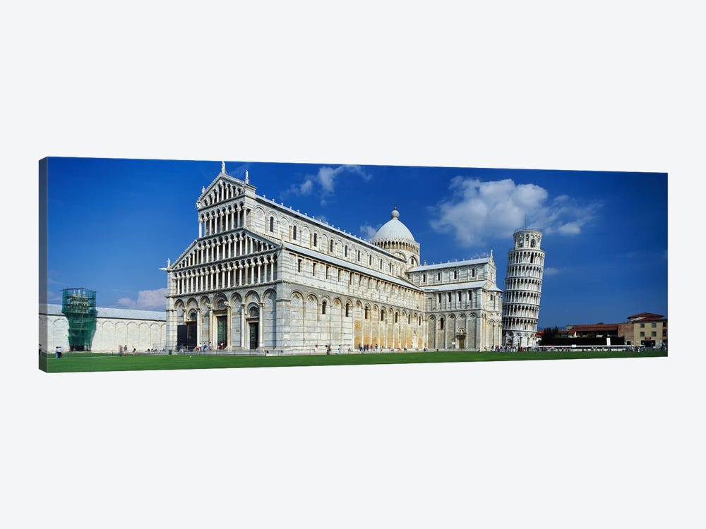 Facade of a cathedral with a towerPisa Cathedral, Leaning Tower of Pisa, Pisa, Tuscany, Italy by Panoramic Images 1-piece Canvas Artwork