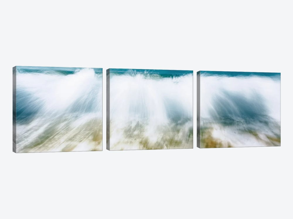 Surf Fountains Big Makena Beach Maui HI USA by Panoramic Images 3-piece Canvas Artwork