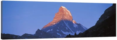 Mt Matterhorn Zermatt Switzerland Canvas Print #PIM2424