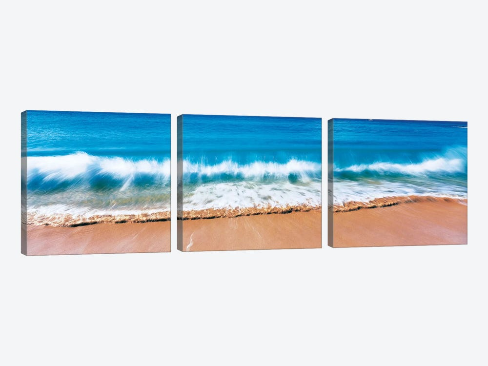 Surf Fountains Big Makena Beach Maui HI USA by Panoramic Images 3-piece Canvas Print