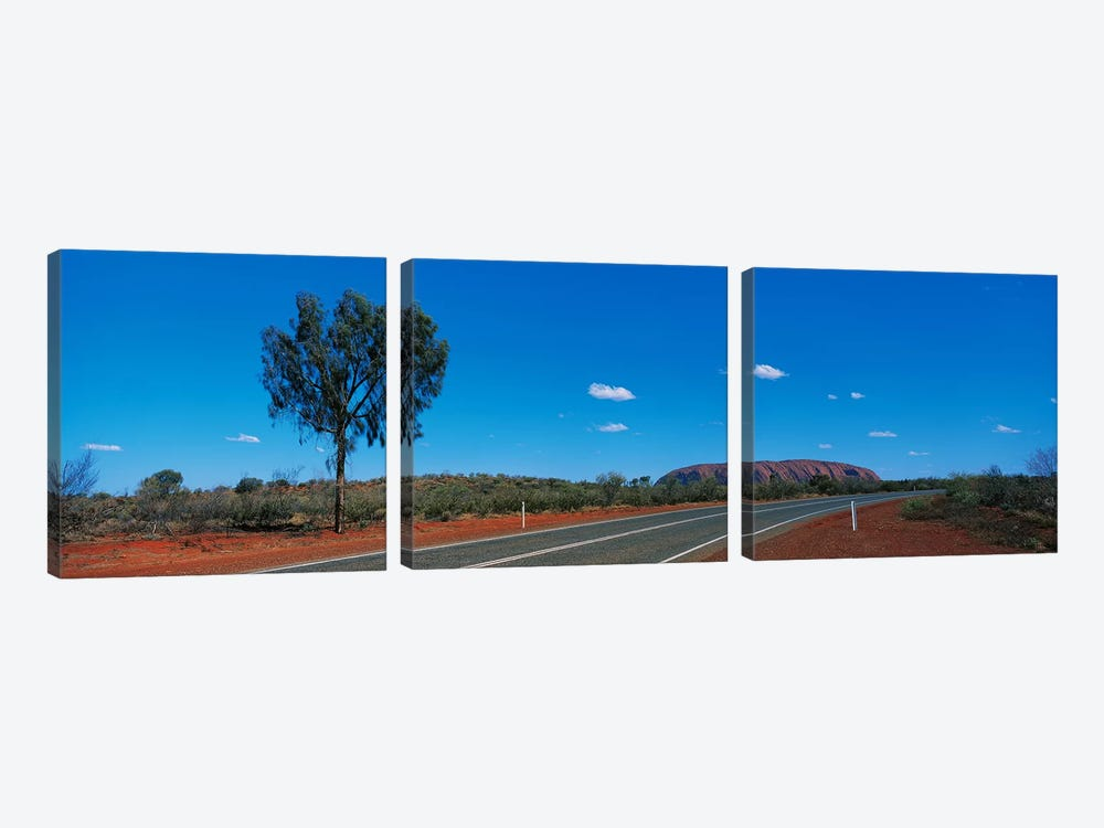 Road Ayers Rock Uluru-Kata Tjuta National Park Australia by Panoramic Images 3-piece Canvas Print