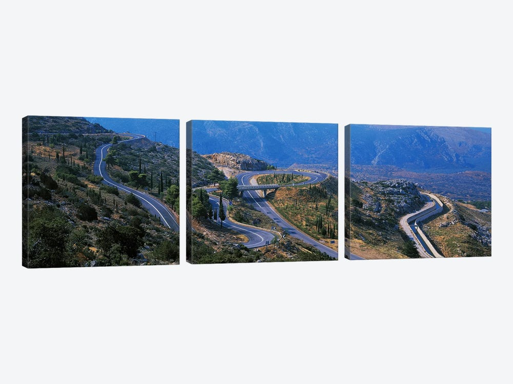 Highway Delphi Greece by Panoramic Images 3-piece Canvas Art