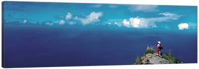 Hiker Pali Kokee State Park Kauai HI USA Canvas Print #PIM243