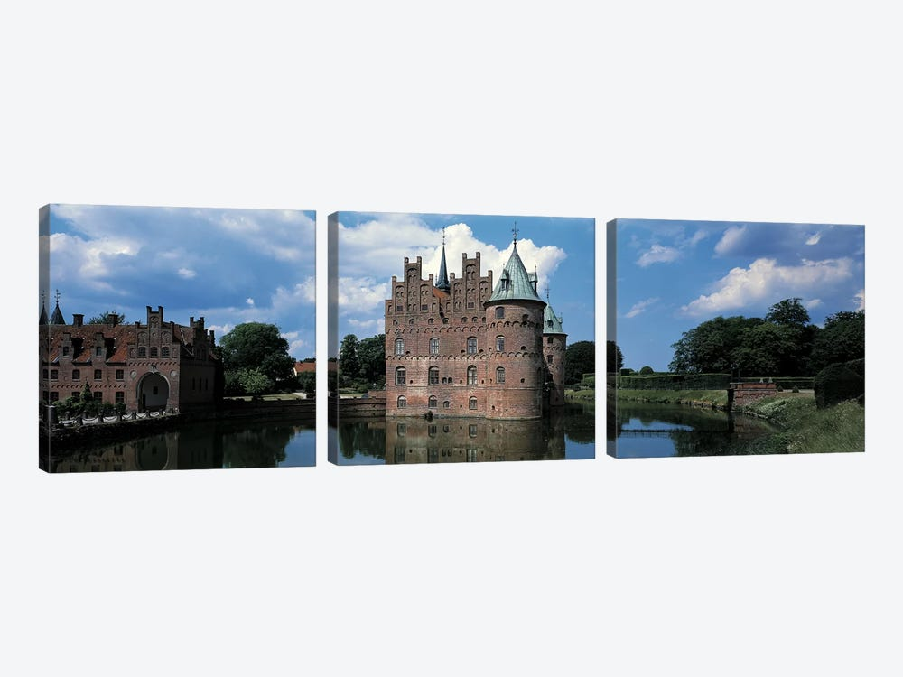 Egeskov Castle Odense Denmark by Panoramic Images 3-piece Canvas Art