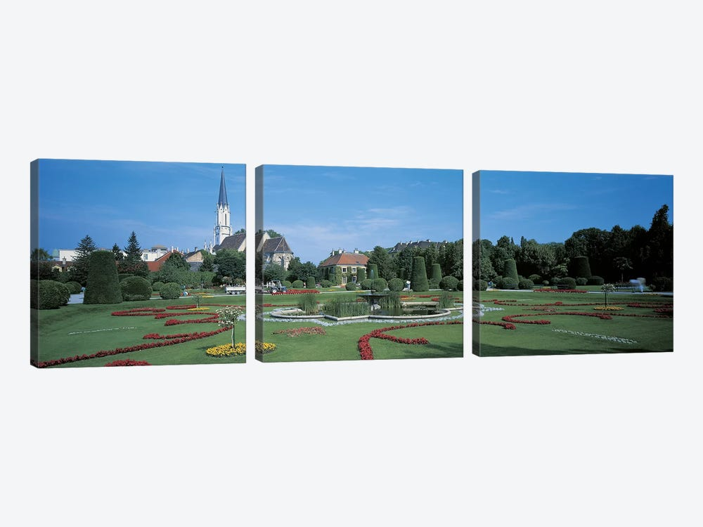 Schonbrunn Palace Vienna Austria by Panoramic Images 3-piece Canvas Artwork