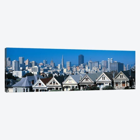 Victorian houses Steiner Street San Francisco CA USA Canvas Print #PIM2452} by Panoramic Images Canvas Art