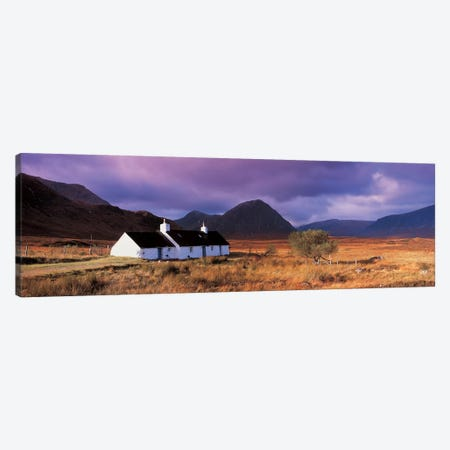 Black Rock Cottage White Corries Glencoe Scotland Canvas Print #PIM2453} by Panoramic Images Canvas Artwork