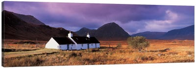 Black Rock Cottage White Corries Glencoe Scotland Canvas Art Print