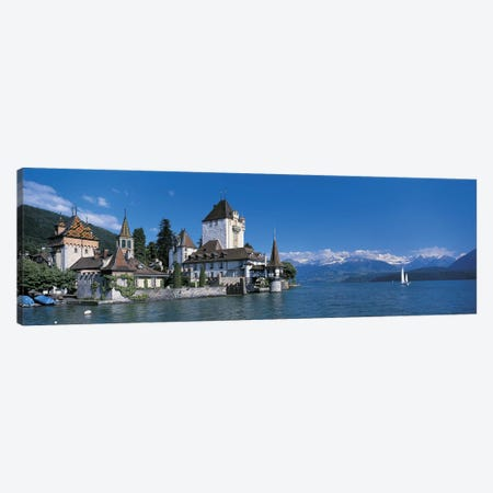 Oberhofen Castle w\ Thuner Lake Switzerland Canvas Print #PIM2462} by Panoramic Images Canvas Print
