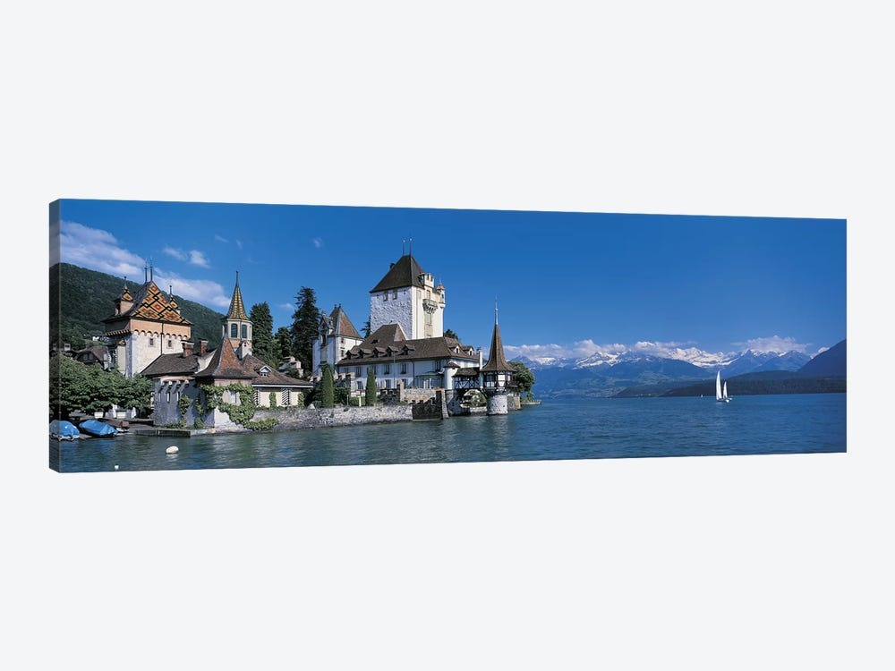 Oberhofen Castle w\ Thuner Lake Switzerland by Panoramic Images 1-piece Art Print