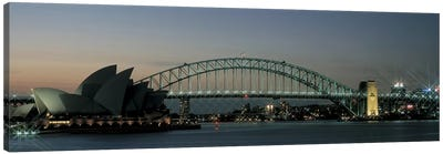 Opera House & Harbor Bridge Sydney Australia Canvas Print #PIM2467