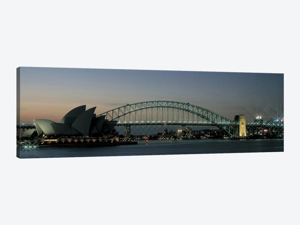 Opera House & Harbor Bridge Sydney Australia by Panoramic Images 1-piece Canvas Artwork