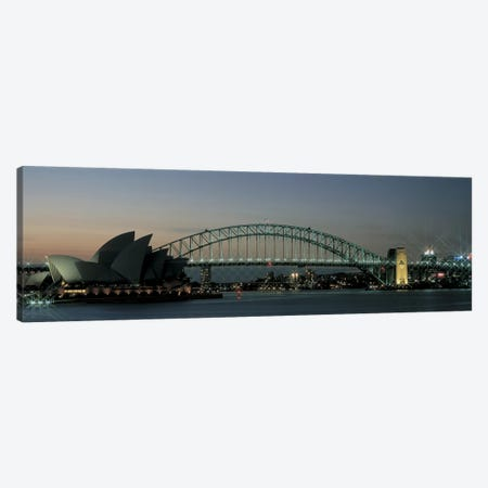 Opera House & Harbor Bridge Sydney Australia Canvas Print #PIM2467} by Panoramic Images Canvas Wall Art