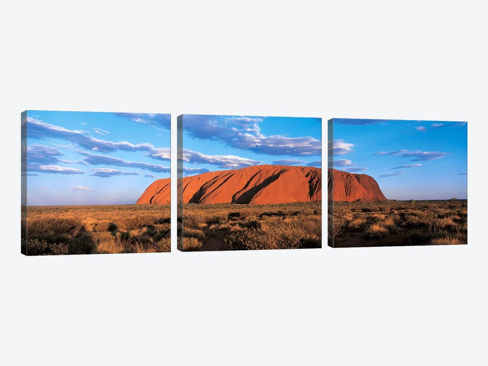 Sunset Ayers Rock Uluru-Kata Tjuta National Park Australia by Panoramic Images 3-piece Canvas Artwork