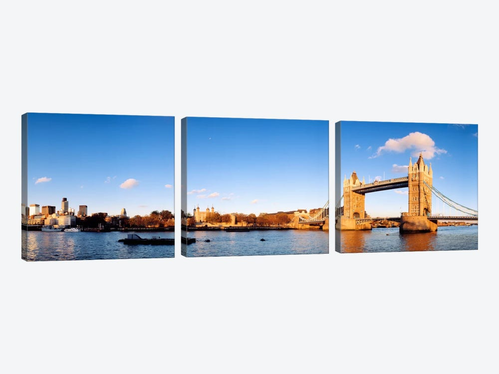 Tower Of London And Tower Bridge, London, England, United Kingdom by Panoramic Images 3-piece Canvas Print