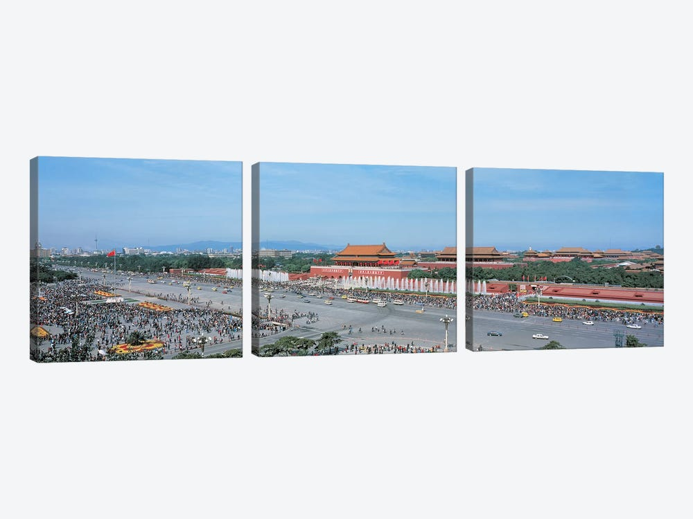 Tiananmen Square Beijing China by Panoramic Images 3-piece Canvas Artwork