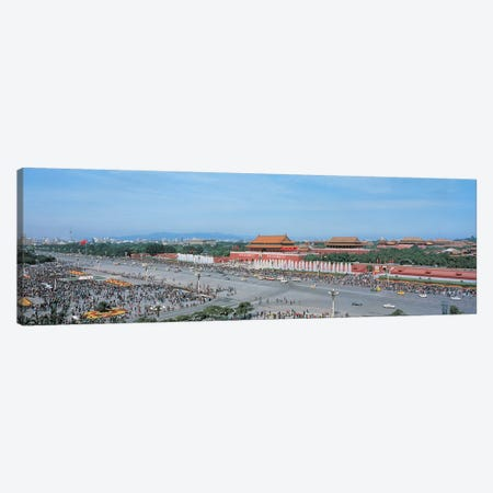 Tiananmen Square Beijing China 3-Piece Canvas #PIM2470} by Panoramic Images Canvas Artwork