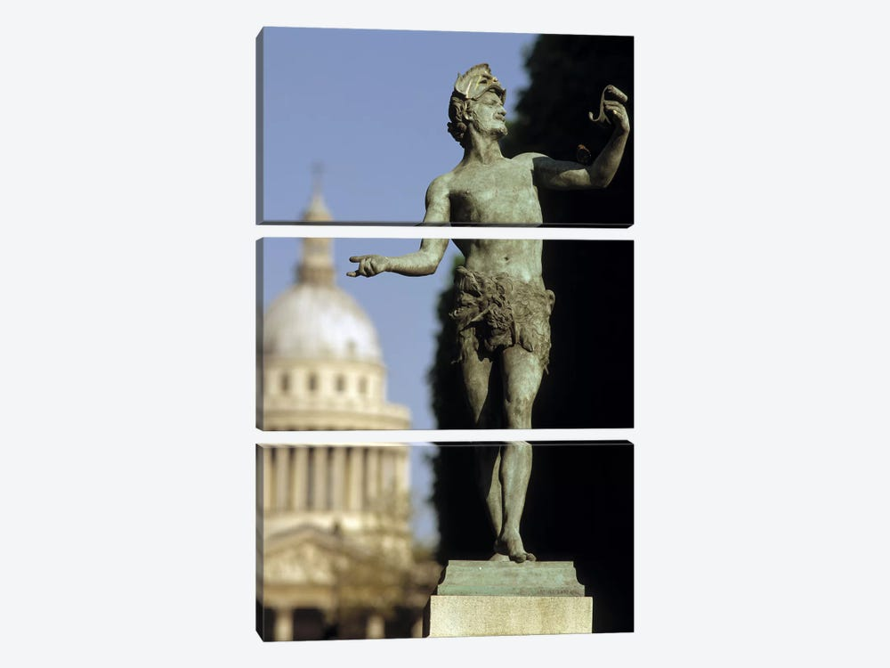 The Pantheon Paris France by Panoramic Images 3-piece Canvas Wall Art