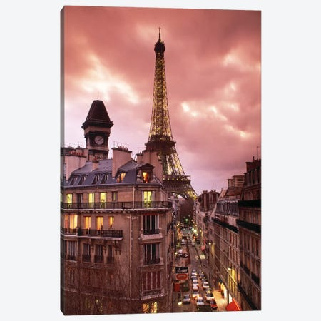 Eiffel Tower Paris France Canvas Print #PIM2479} by Panoramic Images Canvas Artwork