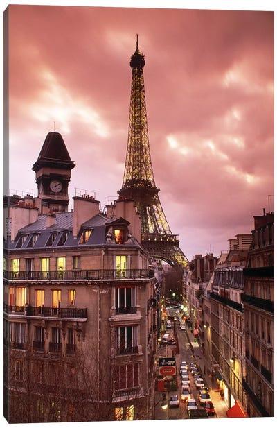 Eiffel Tower Paris France Canvas Print #PIM2479