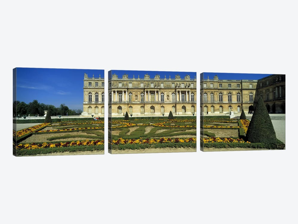 Versailles Palace France by Panoramic Images 3-piece Canvas Wall Art