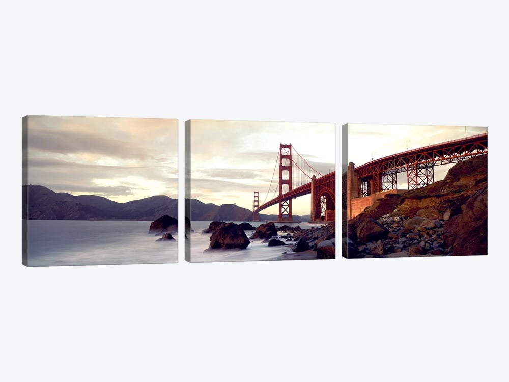 Golden Gate Bridge San Francisco CA USA by Panoramic Images 3-piece Art Print