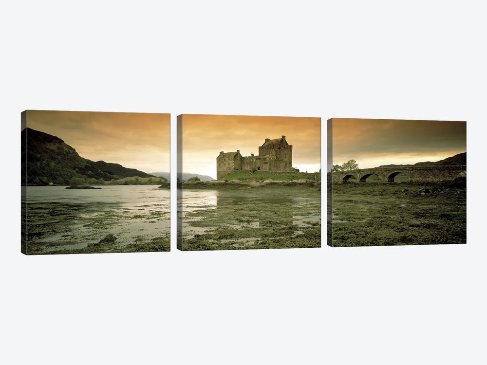Eilean Donan Castle Scotland by Panoramic Images 3-piece Canvas Wall Art