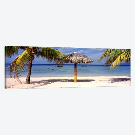 Sunshade on the beach, La Boca, Cuba Canvas Print #PIM2488} by Panoramic Images Art Print