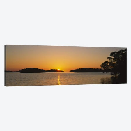 Refection of sun in waterEverglades National Park, Miami, Florida, USA Canvas Print #PIM2489} by Panoramic Images Canvas Art Print