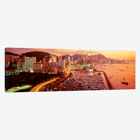 Hong Kong Canvas Print #PIM248} by Panoramic Images Canvas Wall Art