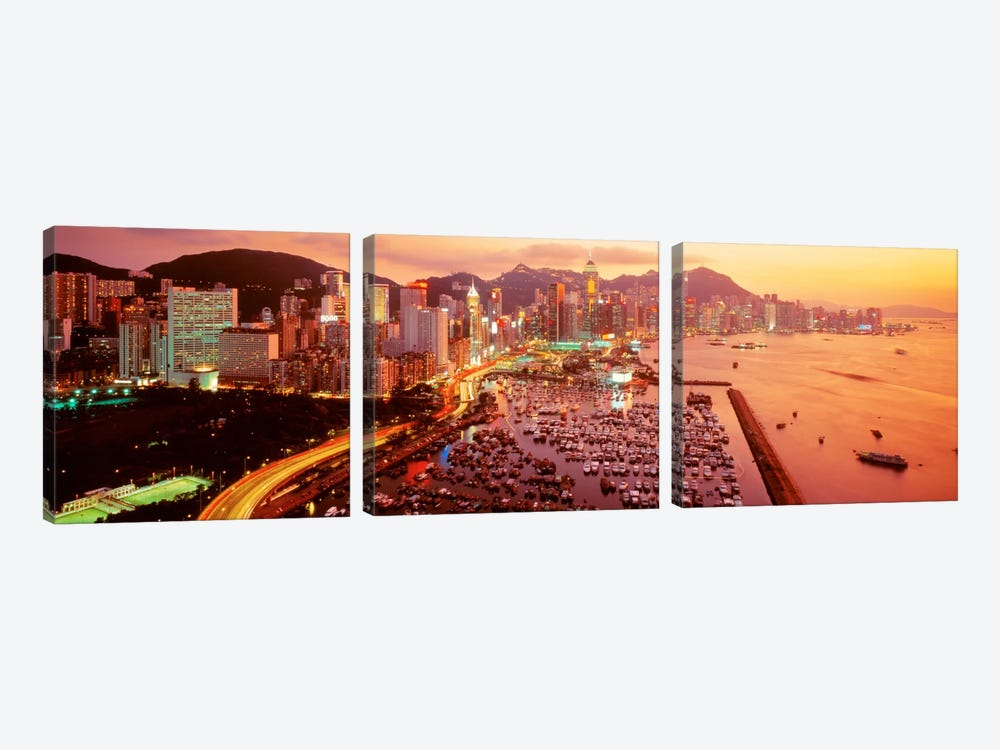 Hong Kong by Panoramic Images 3-piece Art Print