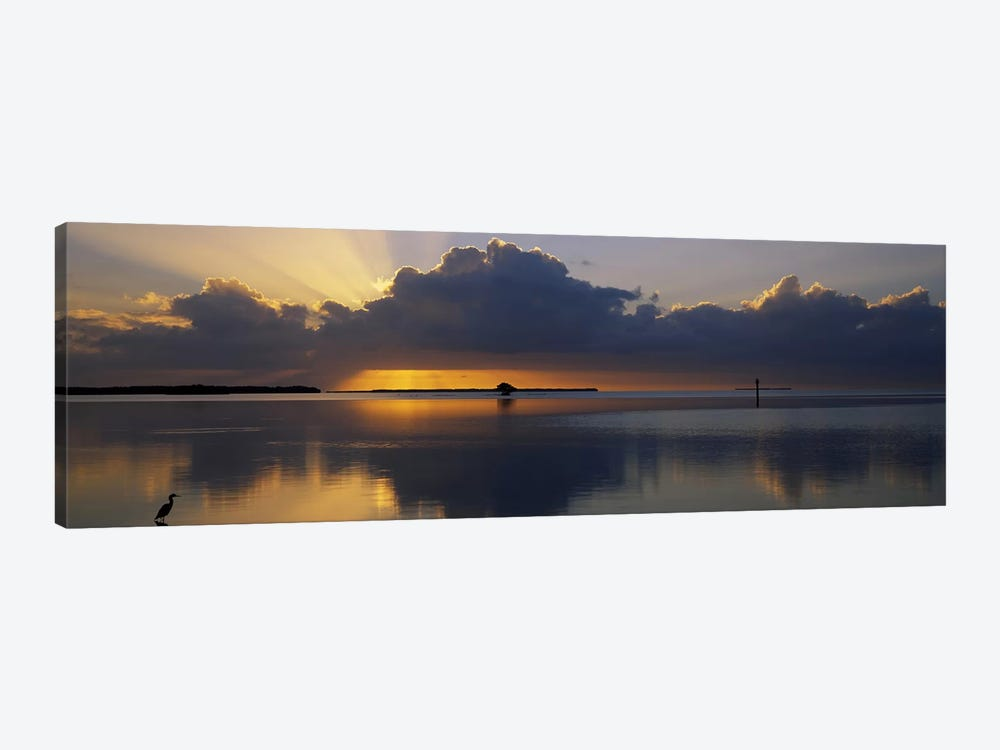 Reflection of clouds in the seaEverglades National Park, near Miami, Florida, USA 1-piece Canvas Artwork