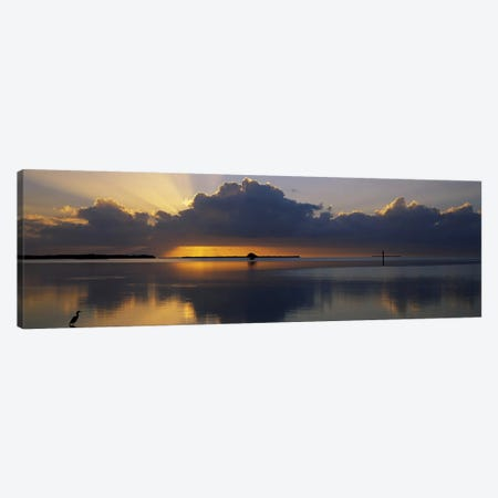 Reflection of clouds in the seaEverglades National Park, near Miami, Florida, USA Canvas Print #PIM2490} by Panoramic Images Canvas Wall Art