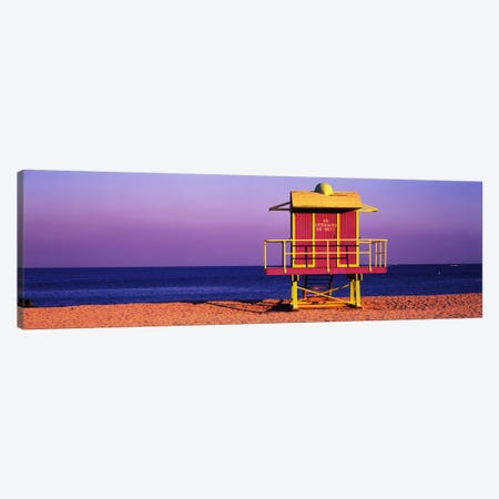 Lifeguard HutMiami Beach, Florida, USA Canvas Print #PIM2496} by Panoramic Images Canvas Print
