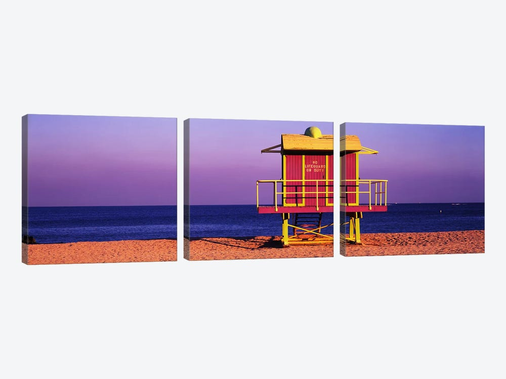 Lifeguard HutMiami Beach, Florida, USA by Panoramic Images 3-piece Canvas Artwork