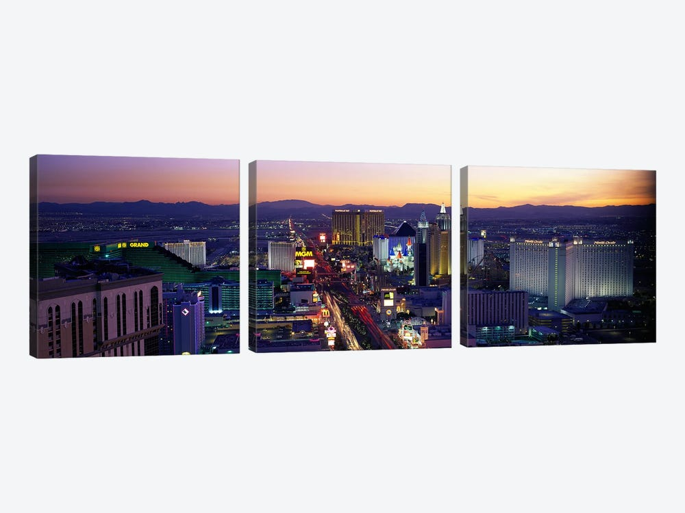 The StripLas Vegas, Nevada, USA by Panoramic Images 3-piece Canvas Print