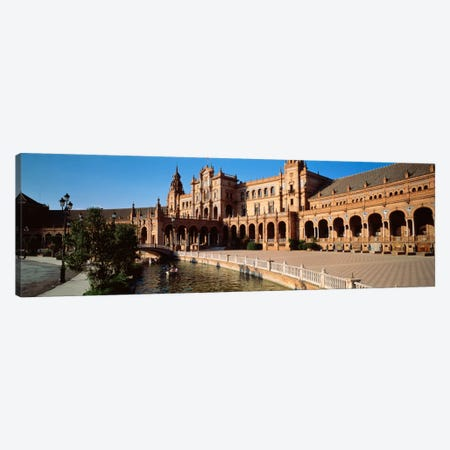 Plaza de Espana And Its Moat, Parque de Maria Luisa, Seville, Andalusia, Spain Canvas Print #PIM249} by Panoramic Images Canvas Artwork