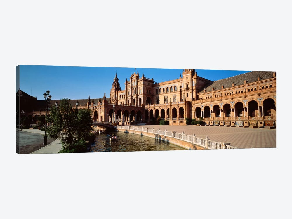Plaza de Espana And Its Moat, Parque de Maria Luisa, Seville, Andalusia, Spain by Panoramic Images 1-piece Canvas Artwork