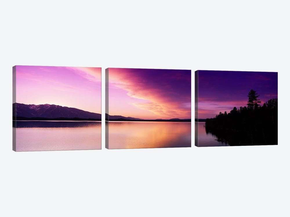 Sunset Jackson Lake Grand Teton National Park WY USA by Panoramic Images 3-piece Canvas Art Print