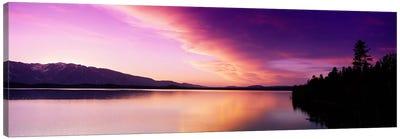 Sunset Jackson Lake Grand Teton National Park WY USA Canvas Art Print