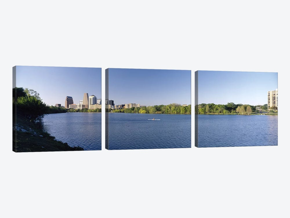 Buildings in a cityAustin, Texas, USA by Panoramic Images 3-piece Canvas Print