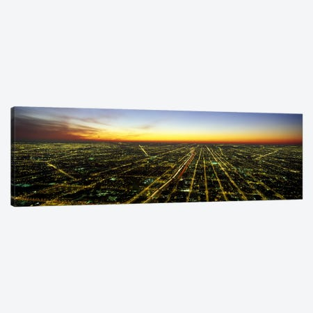 Evening Chicago IL Canvas Print #PIM2508} by Panoramic Images Canvas Art