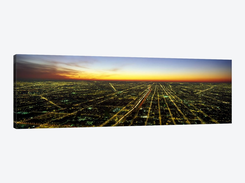 Evening Chicago IL 1-piece Canvas Artwork