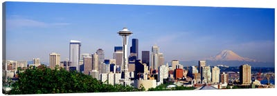 Downtown Skyline With Mount Rainier In The Distance, Seattle, King County, Washington, USA Canvas Art Print