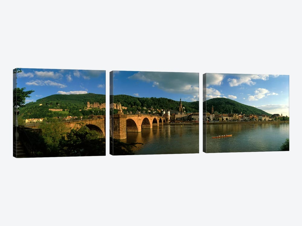 Bridge, Heidelberg, Germany by Panoramic Images 3-piece Canvas Artwork